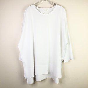 COS White Batwing Cotton Shirt